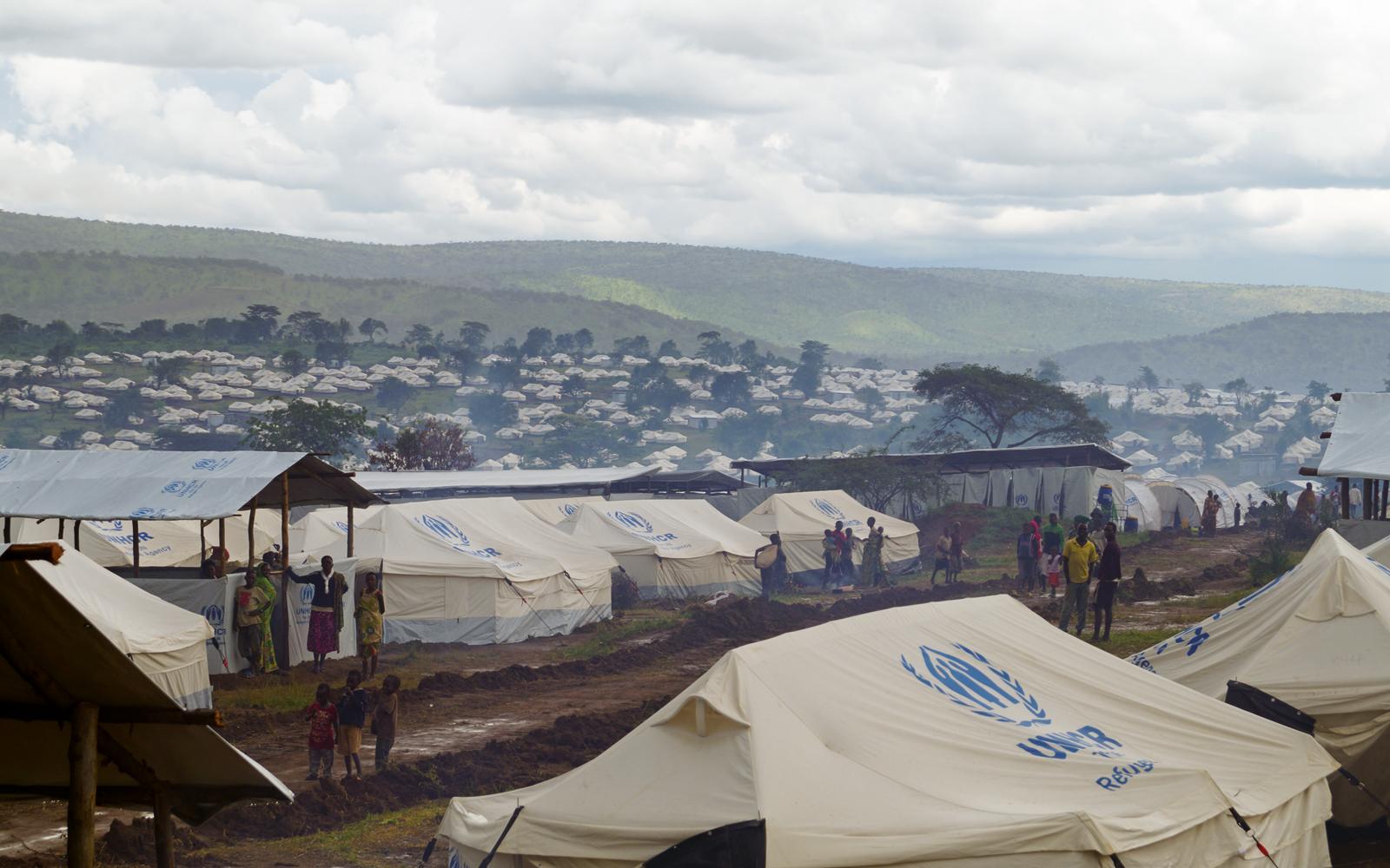 FN:s flyktingorgan UNHCR är granne med TT:s tält i