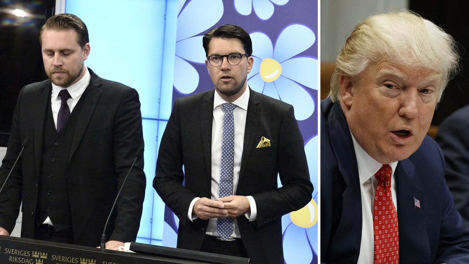 """Jimmie Åkesson och Mattias Karlsson: """"Trump har rätt"""""""