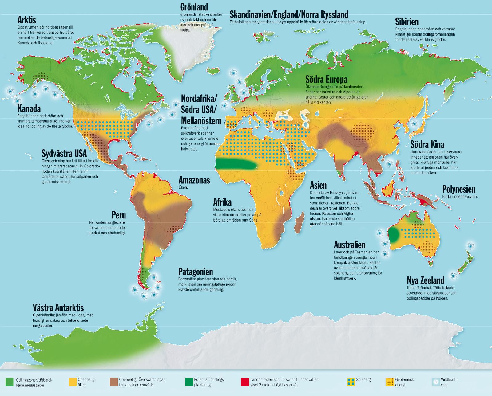 Karta Afrikas Ostkust.Varlden Om Fyra Grader Etc