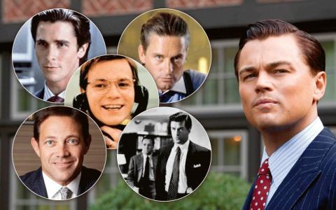 Patrick Bateman, Gordon Gekko, Nick Leeson, Jordan Belfort – som The Wolf of Wall Street bygger på– och Glengarry Glen Ross.
