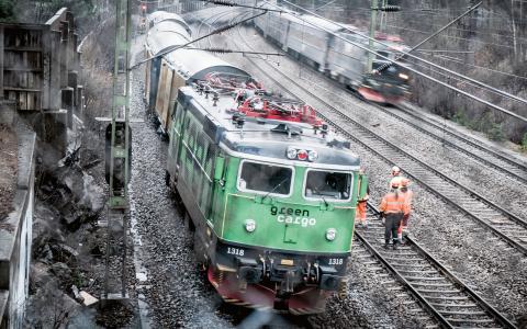 I början av januari spårade ett godståg ur söder om Stockholm.  Bild: Magnus Hjalmarson Neideman/SvD/TT