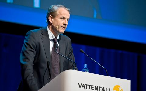 Vattenfalls vd Øystein Løseth presenterade resultatet under tisdagen.