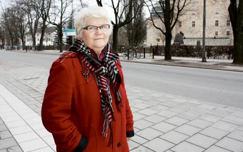 Solveig Wistrand överlevde sin hjärtinfarkt, trots att hon i flera dagar gick hemma och trodde att det var träningsvärk.  Bild: Ulrika Lindahl