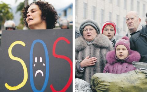 """""""Utrikesanalyser och -reportage i Dagens ETC kommer alltid att ha som mål att berätta vad som händer utan solidaritet med en viss regim, men med mycket solidaritet med människors rättigheter"""", skriver Johan Ehrenberg.  Bilder: TT"""