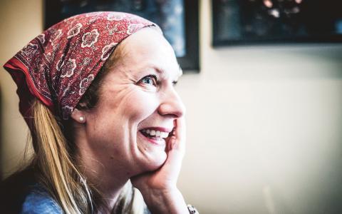 I maj kommer Annika Lantz första roman ut i butikerna.  Bild: Thea Holmqvist
