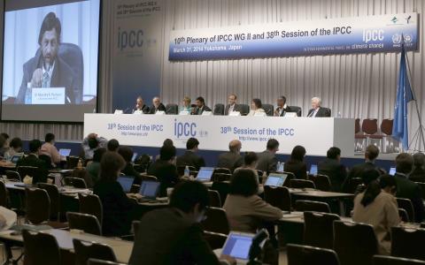 IPCC:s rapport presenterades i japanska Yokohama. Bild: Shizuo Kambayashi/AP/TT