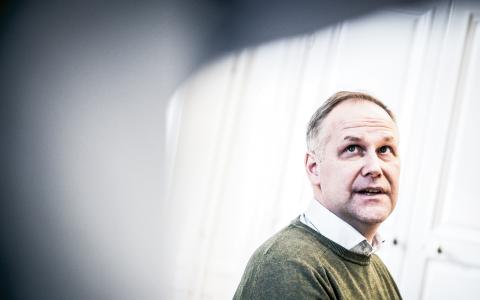 """I feministiska frågor ligger V nära Feministiskt Initiativ men """"vi är ett bredare parti med en mer utvecklad klasspolitik"""", säger Jonas Sjöstedt. Bild: Thea Holmqvist"""