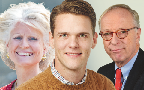 Anna Maria Corazza Bildt, Christofer Fjellner och Gunnar Hökmark är tre av de EU-parlamentariker som är mest konsekventa med att rösta mot miljöförslag.  Bild: Bengt Nyman, Peter Knutson, Andy Mabbett