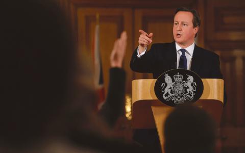 David Camerons konservativa partis nya kampanj har hånats i brittisk press.  Bild: Ben Stansall/AP/TT