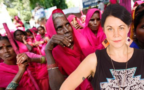 """""""Gruppen finns i Indien men kunde lika gärna ha uppstått var som helst i världen eftersom våldet inte känner några geografiska eller kulturella gränser"""", skriver Maria Sveland.  Bild: Mustafa Quraishi/AP/TT"""