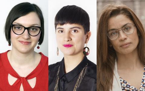 """""""För Fi är det en självklarhet att politiken skall ansvara för den omfördelning som kommer att leda till jämlikhet"""", skriver Julia Bahner, Sissela Nordling Blanco och Katerin Mendez. Bild (Mendez): Camilla Rehnstrand"""