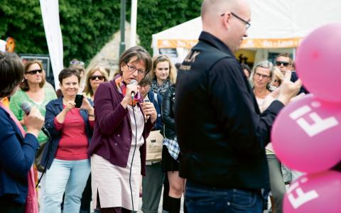 I sin ledarartikel skrev Göran Greider att han önskade att Fi uppmanade sina väljare att rösta på något av de andra tre rödgröna partierna, om partiet bara skulle få runt tre procent av rösterna. Nu svarar Gudrun Schyman (Fi).  Bild: Thea Wiborg/News Øresund