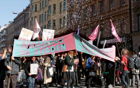 Förra året hölls Mayday-paraden för första gången i Stockholm.