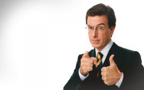 2005 fick Stephen Colbert sin egen talkshow, efter att ha varit medarbetare i The Daily Show with John Stewart. I höst blir han David Lettermans efterträdare.  Bild: Colbertnation