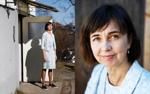 """Gunilla Brodrej har levt ett år utan överflödig konsumtion. Upplevelsen har hon skrivit om i boken Shopstop. """"Projektet har inte gått ut på att jag ska sitta på en öde ö, utan att hålla konsumtionen på en rimlig nivå"""", säger hon.  Bild: Ellinor Collin/Atlas förlag"""