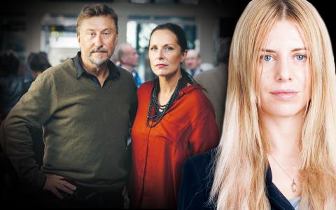 Janne Josefsson och Karin Mattisson på Uppdrag Granskning.  Bild: SVT
