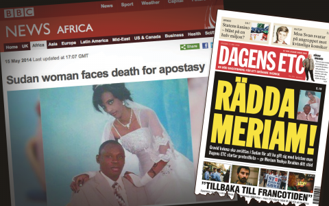 I går skrev Dagens ETC om Meriam Yehya Ibrahim.