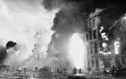 Stalingrad under andra världskriget.  Bild: Bundesarchiv