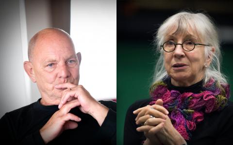 Norén och Osten – ett geni och en vanlig dödlig teaterregissör? Bild: Björn Larsson Rosvall/TT,  Lars Pehrson/TT