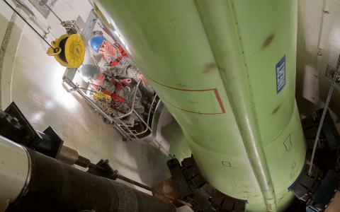 En träningsmissil vid den amerikanska kärnvapenbasen i Montana.  Bild: Beau Wade/AP