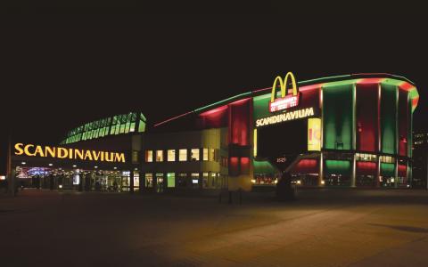 Den nya multiarenan kan byggas där Scandinavium i dag ligger. Utvalda arkitektteam skissar just nu på förslag på hur arenan ska se ut.  Bild: Jorma Valkonen