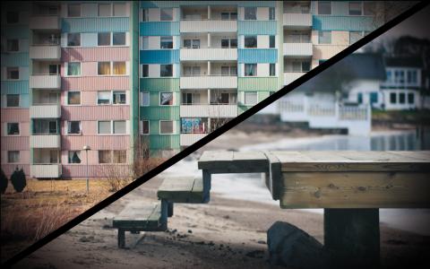 Bergsjön och Hovås –skilda världar inom samma stad. Bild: Pieter Morlion/Flickr, Thehamsterfactor/Flickr