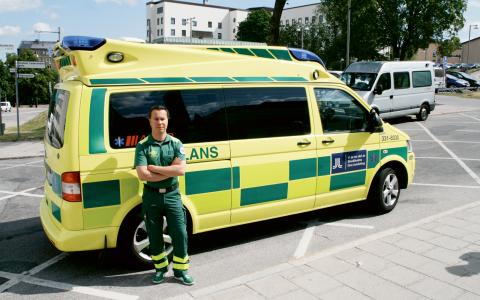 Janne Kautto anser att det är bristen på styrning, insyn och utvärderingar från landstingens håll som orsakar alla problemen i ambulansbranschen. Bild: Jörgen Lund