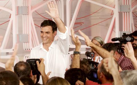 """Pedro Sánchez, i Spanien kallad """"den vackre"""", ersätter Alfredo Pérez Rubalcaba som ledare för Spaniens största oppositionsparti, Spanska socialistiska arbetarpartiet, PSOE BILD: PSOE"""