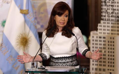 Argentinas president Cristina Kirchner. Bild: Victor R Caivano/AP/TT