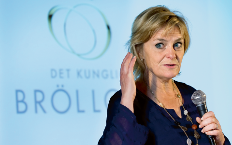 """""""Kommersiella aktörer kan inte på längre sikt ta över public service-uppdraget"""", säger SVT:s vd Eva Hamilton.  Bild: Claudio Bresciani/TT"""