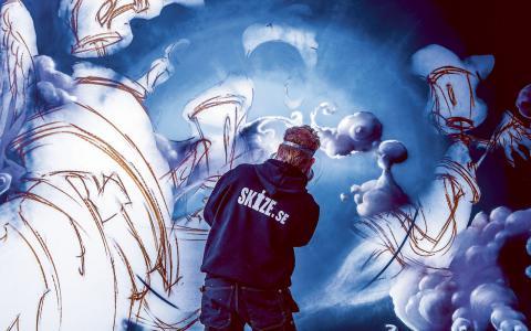Festivalen HX handlar om att presentera graffiti som konstform. Bild: Press