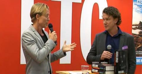 Författarna Anders Roslund och  Stefan Thunberg.
