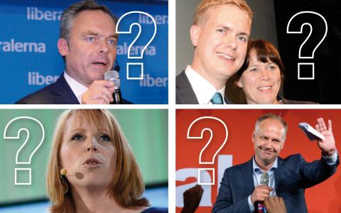 Tänkbara alternativ? Stefan Löfven kommer att få svårt att bilda en stark regering. Bilder: TT