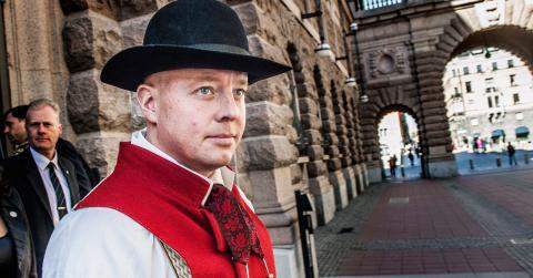 Sveriges nye vice talman hade folkdräkt på vid riksmötets öppnande förste oktober. Redan i början av 2000-talet bloggade han om vikten av svensk kultur. Tomas Oneborg / SvD / TT