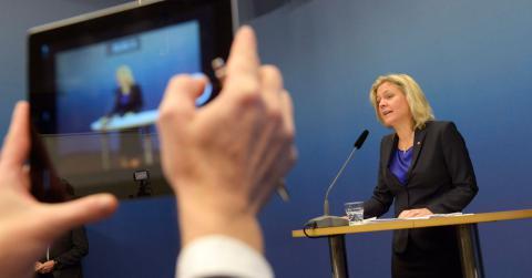 Finansminister Magdalena Andersson. Janerik Henriksson / TT