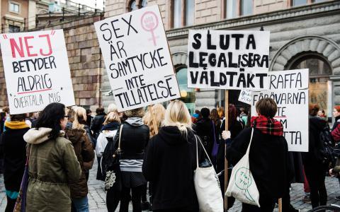 I Fattas partikoll, Fattakollen, svarade alla partier ja på frågan om de ville se en förändring i den nuvarande sexualbrottslagstiftningen. Bild: Vilhelm Stokstad/TT