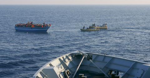 Bara i år har 3000 människor drunknat i Medelhavet. Bild: Italienska marinen/TT
