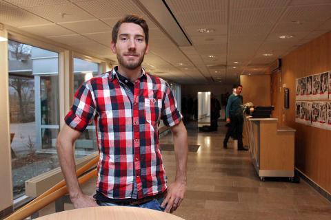 """""""Att passivt räkna med att vi alltid ska bistå, den tiden är förbi"""", säger Mikael Ekvall, Vänsterpartiets nya gruppledare i landstinget. BILD: THOMAS JOKINIEMI"""