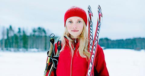Anna Andersson, 14 år, älskar att åka skidor.  Foto: Meredith Andrews