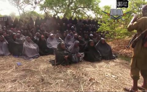 """""""Bring back our girls"""" skanderades – men ingen hämtade hem dem, så nu pratar vi om annat"""", skriver Valerie Kyeyune Backström.  Bild: AP/TT"""