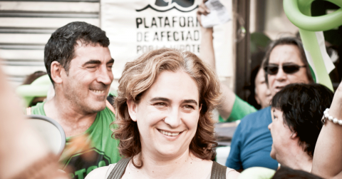 Ada Colau kan bli ny borgmästare i Barcelona. Bild: Andrea Ciambra/Creative Commons