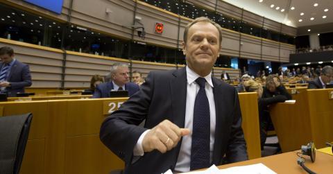 EU:s ordförande Donald Tusk bjöd i måndags in stats- och regeringschefer för att diskutera EU:s tiopunktsprogram. Bild: AP Photo/Virginia Mayo