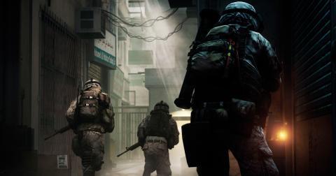 När dataspelet Battlefield 3 utvecklades var Försvarsmakten med och ansvarade för att göra ljudet och miljöerna så verklighetstrogna som möjligt. Barn och unga har sedan fått utmana Försvarsmaktens rekryterare i spelet. Bild: Press/AP/TT