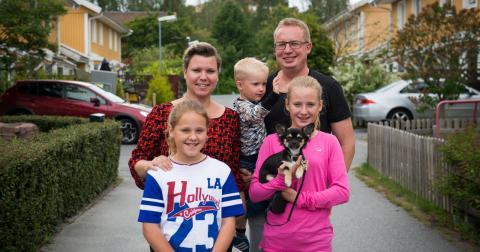 Familjen Palmberg är med i reklamen för Coops satsning på ekologiska livsmedel. Bild: Coop