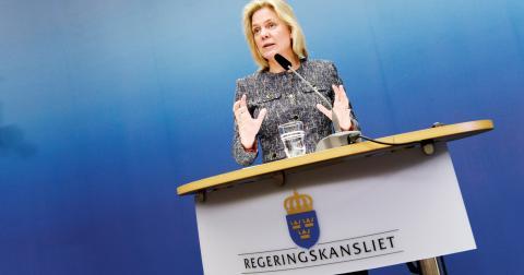 Finansminister Magdalena Andersson. Bild: Pontus Lundahl/TT