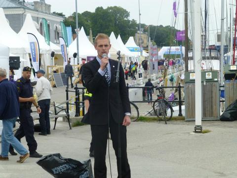 Jesper Nilsson, numera avhoppad SDU-politiker. Bild: Pressbild