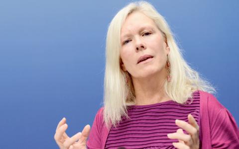 Den svenska chefsförhandlaren Anna Lindstedt. Bild: Leif R Jansson/TT