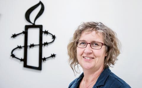Svenska Amnestys generalsekreterare Anna Lindenfors.  Bild: Tomas Oneborg / SvD / TT