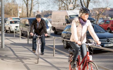 bt att ta elcykeln från Bromma till Östermalm (9,5 km) jämfört med bil. Bild: Sustainable Innovation