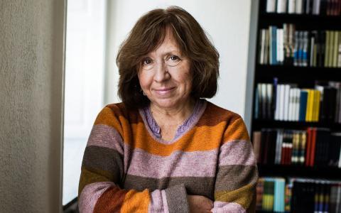 Den vitryska författaren Svetlana Aleksijevitj får årets nobelpris i litteratur. Bild: Vilhelm Stokstad